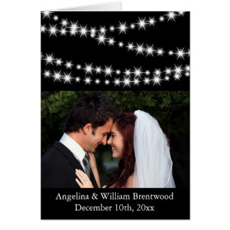 Twinkle Lights Photo Thank You Card
