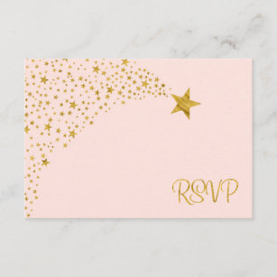 Twinkle Little Shooting Star Pink Gold RSVP