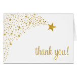 Twinkle Little Shooting Star White Gold Thank You Note Card