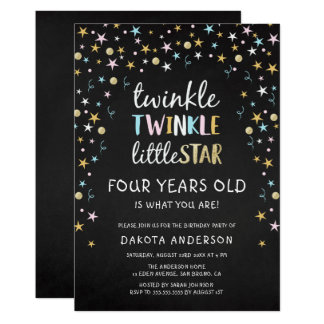 Twinkle Little Star 4 Years Old Is What You Are! Card