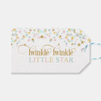 Twinkle Little Star Baby Shower Any Color Pack Of Gift Tags