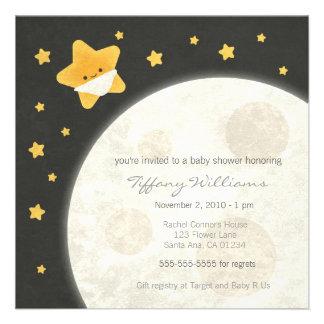 Twinkle Little Star Baby Shower Invitation
