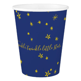 Twinkle Little Star Baby Shower Paper Cups