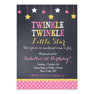 Twinkle Little Star Birthday Invitation