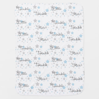Twinkle Little Star Blue Gray Boy Nursery Rhyme Baby Blanket
