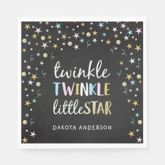 Twinkle Little Star Confetti & Chalk Baby Shower Disposable Napkins