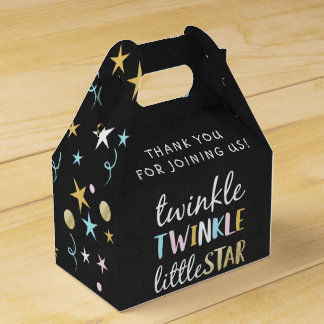 Twinkle Little Star Confetti & Chalk Baby Shower Favor Box
