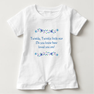 Twinkle Little Star Do You know how Loved you are Baby Romper