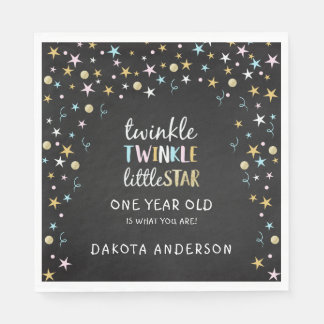 Twinkle Little Star One Year Old Is What You Are! Paper Napkins