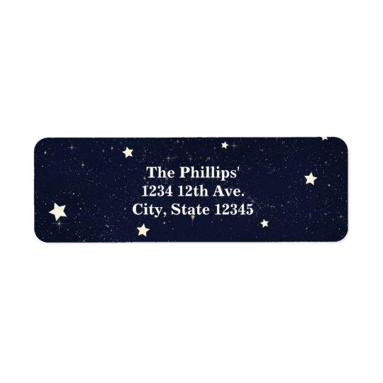 Twinkle Little Star Starry Sky Baby Shower Return Address Label