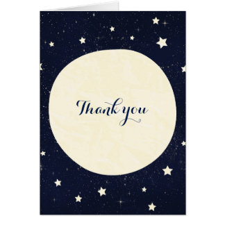 Twinkle Little Star Starry Sky & Moon Thank You Card