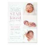 Twinkle Multi Photo Baby Girl Birth Announcement
