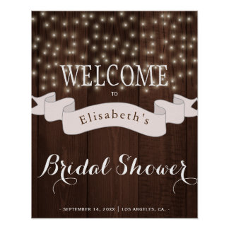 Twinkle shinny lights bridal shower welcome sign