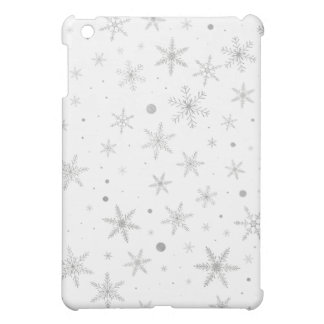 Twinkle Snowflake -Silver Grey & White- Case For The iPad Mini