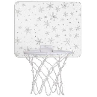 Twinkle Snowflake -Silver Grey & White- Mini Basketball Hoop
