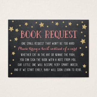 Twinkle Star Book Request, Pink, Nursery Rhyme Business Card