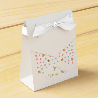 Twinkle Star Gender Reveal Favor Box