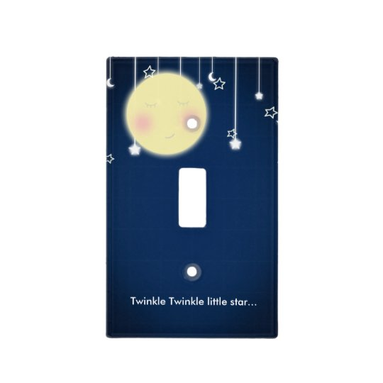 Twinkle Star Moon Nursery Room Light Switch Cover