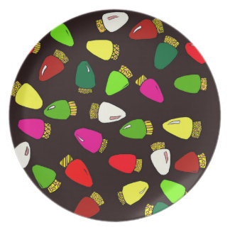 twinkle, twinkle little Christmas lights ... Party Plate