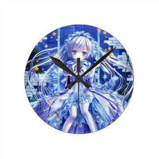 Twinkle Twinkle Little Girl Round Clock