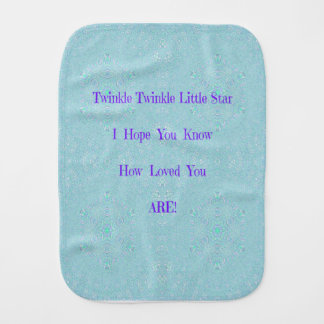 Twinkle Twinkle Little Star Baby Gifts Burp Cloth