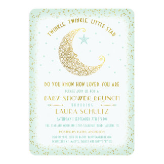 Twinkle Twinkle Little Star Baby Shower Brunch 2 Card