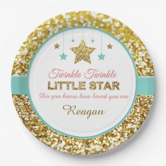 Twinkle Twinkle little star baby shower plates
