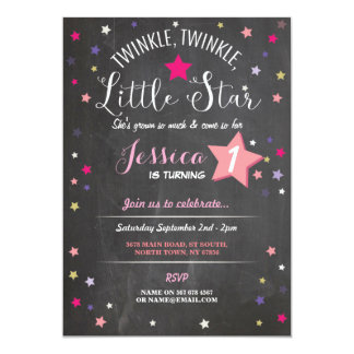 Twinkle Twinkle Little Star Birthday Party Invite