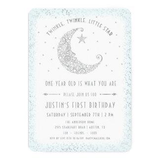 Twinkle Twinkle Little Star Boy Birthday Invite
