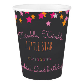 Twinkle Twinkle Little Star Chalkboard Birthday Paper Cup