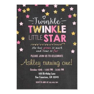 Twinkle Twinkle Little Star Chalkboard invitation