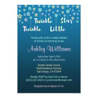 Twinkle Twinkle Little Star Gender Reveal Blue Card