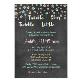 Twinkle Twinkle Little Star Gender Reveal Neutral Card