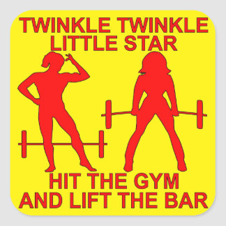 Twinkle Twinkle Little Star Hit The Gym And Lift Square Sticker