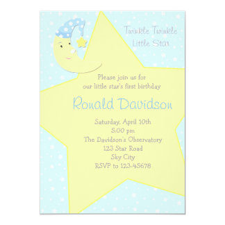 Twinkle Twinkle Little Star Invitation - with Moon