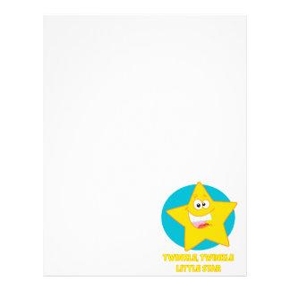 twinkle twinkle little star letterhead design