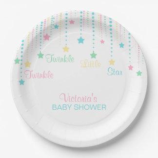 Twinkle Twinkle Little Star Neutral Unisex Party Paper Plate