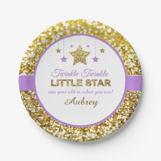 Twinkle twinkle little star purple plates