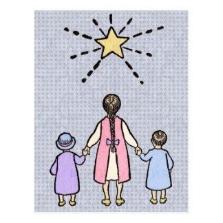Twinkle, Twinkle Little Star Vintage Nursery Rhyme Postcard