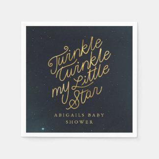 Twinkle twinkle my little star paper napkin