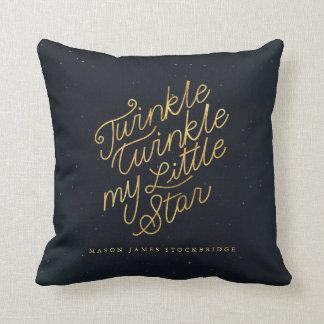Twinkle twinkle my little star throw pillow