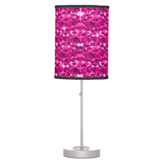 Twinkling Hot Pink Diamonds Table Lamp