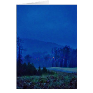 Twinkling Lights in a Blue Mountain Mist Cards