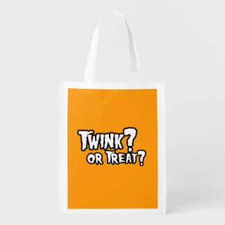 TWINNK OR TREAT - Halloween - png Reusable Grocery Bag