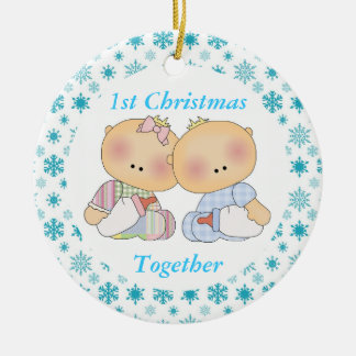 Twins 1st Christmas Together Keepsake Ornament