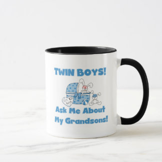 Twins-Ask About My Grandsons Tshirts and Gifts Mug