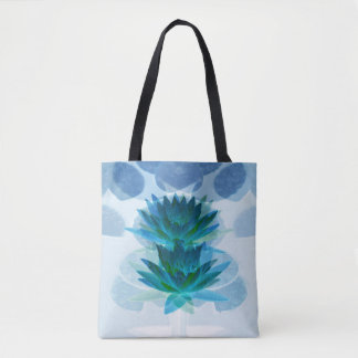 Twins at the pond... tote bag