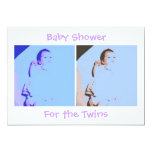 Twins Baby Shower 5x7 Paper Invitation Card