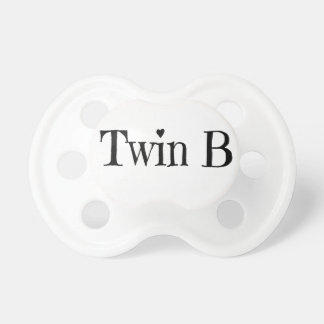 Twins Baby Shower Gift - Twin B Pacifier