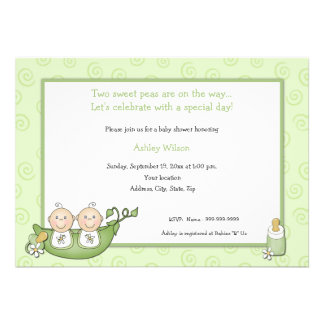 Twins Baby Shower Invitations